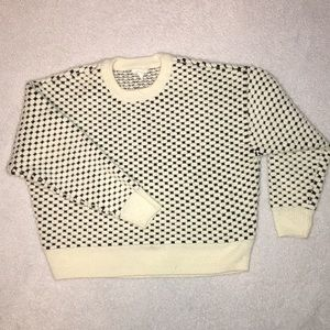 H&M size small black and white sweater